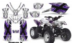 Polaris Outlaw Predator 50 Graphics Kit TribalX Purple White 150x90 - Polaris Predator 50 Graphics