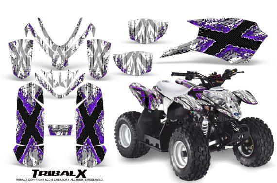 Polaris Outlaw Predator 50 Graphics Kit TribalX Purple White 570x376 - Polaris Predator 50 Graphics