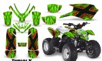 Polaris Outlaw Predator 50 Graphics Kit TribalX Red Green 150x90 - Polaris Predator 50 Graphics