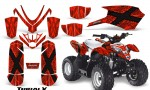 Polaris Outlaw Predator 50 Graphics Kit TribalX Red Red 150x90 - Polaris Predator 50 Graphics