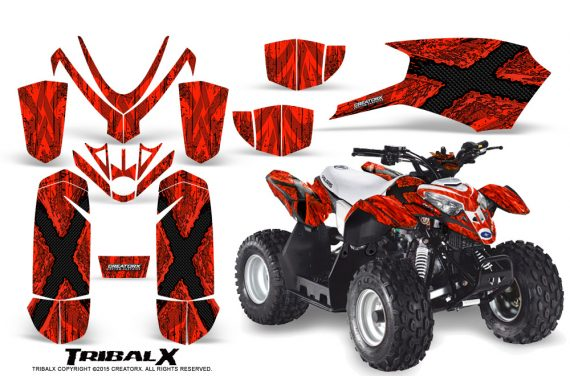 Polaris Outlaw Predator 50 Graphics Kit TribalX Red Red 570x376 - Polaris Predator 50 Graphics