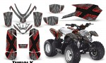 Polaris Outlaw Predator 50 Graphics Kit TribalX Red Silver 150x90 - Polaris Predator 50 Graphics