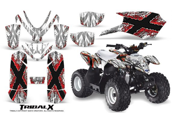 Polaris Outlaw Predator 50 Graphics Kit TribalX Red White 1 570x376 - Polaris Outlaw 50 Graphics