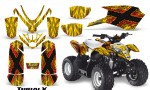Polaris Outlaw Predator 50 Graphics Kit TribalX Red Yellow 150x90 - Polaris Predator 50 Graphics