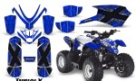 Polaris Outlaw Predator 50 Graphics Kit TribalX Silver Blue 150x90 - Polaris Outlaw 50 Graphics