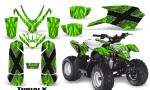 Polaris Outlaw Predator 50 Graphics Kit TribalX Silver Green 150x90 - Polaris Predator 50 Graphics
