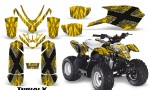 Polaris Outlaw Predator 50 Graphics Kit TribalX Silver Yellow 150x90 - Polaris Predator 50 Graphics