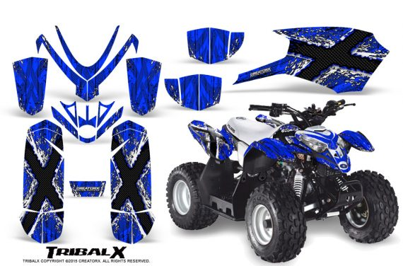 Polaris Outlaw Predator 50 Graphics Kit TribalX White Blue 1 570x376 - Polaris Outlaw 50 Graphics