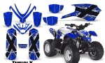 Polaris Outlaw Predator 50 Graphics Kit TribalX White Blue 150x90 - Polaris Predator 50 Graphics