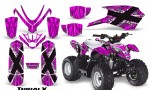 Polaris Outlaw Predator 50 Graphics Kit TribalX White Pink 150x90 - Polaris Predator 50 Graphics