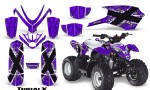 Polaris Outlaw Predator 50 Graphics Kit TribalX White Purple 150x90 - Polaris Predator 50 Graphics