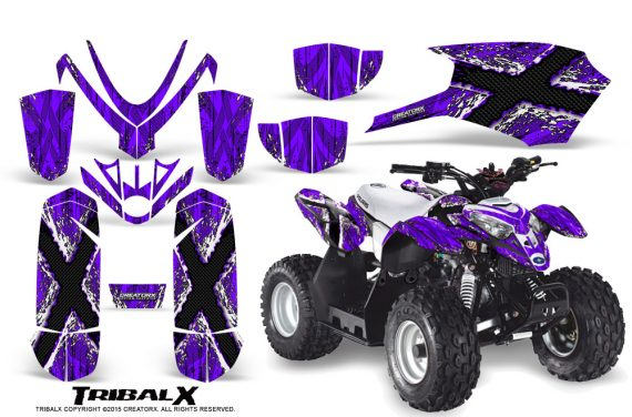 Polaris Outlaw Predator 50 Graphics Kit TribalX White Purple 570x376 - Polaris Predator 50 Graphics