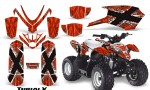 Polaris Outlaw Predator 50 Graphics Kit TribalX White Red 150x90 - Polaris Predator 50 Graphics