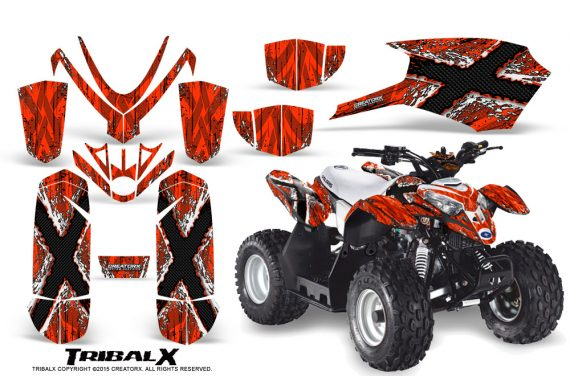 Polaris Outlaw Predator 50 Graphics Kit TribalX White Red 570x376 - Polaris Predator 50 Graphics
