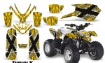 Polaris Outlaw Predator 50 Graphics Kit TribalX White Yellow 150x90 - Polaris Predator 50 Graphics