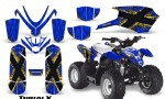 Polaris Outlaw Predator 50 Graphics Kit TribalX Yellow Blue 150x90 - Polaris Predator 50 Graphics