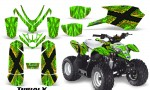 Polaris Outlaw Predator 50 Graphics Kit TribalX Yellow Green 150x90 - Polaris Predator 50 Graphics
