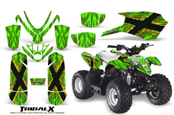 Polaris Outlaw Predator 50 Graphics Kit TribalX Yellow Green 570x376 - Polaris Predator 50 Graphics