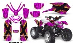 Polaris Outlaw Predator 50 Graphics Kit TribalX Yellow Pink 150x90 - Polaris Predator 50 Graphics