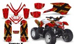 Polaris Outlaw Predator 50 Graphics Kit TribalX Yellow Red 150x90 - Polaris Predator 50 Graphics