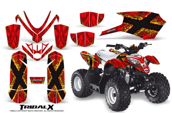 Polaris Outlaw Predator 50 Graphics Kit TribalX Yellow Red 570x376 - Polaris Predator 50 Graphics
