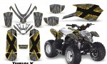 Polaris Outlaw Predator 50 Graphics Kit TribalX Yellow Silver 150x90 - Polaris Predator 50 Graphics