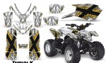 Polaris Outlaw Predator 50 Graphics Kit TribalX Yellow White 150x90 - Polaris Outlaw 50 Graphics