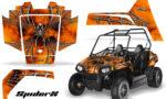 Polaris RZR170 CREATORX Graphics Kit SpiderX Orange 150x90 - Polaris Youth RZR 170 Graphics