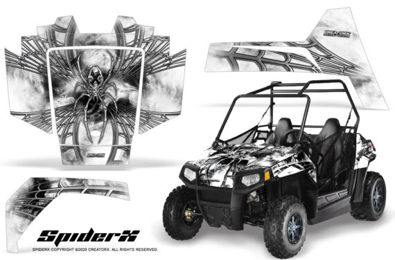 Polaris RZR170 CREATORX Graphics Kit SpiderX White 570x376 - Polaris Youth RZR 170 Graphics