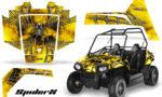 Polaris RZR170 CREATORX Graphics Kit SpiderX Yellow 150x90 - Polaris Youth RZR 170 Graphics