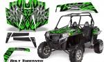 RZR 900 2011 CreatorX Graphics Kit Bolt Thrower Green 150x90 - Polaris RZR 900 XP UTV 2011-2014 Graphics