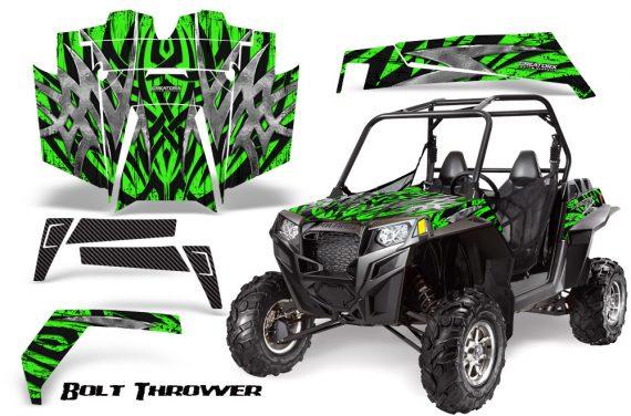 RZR 900 2011 CreatorX Graphics Kit Bolt Thrower Green 570x376 - Polaris RZR 900 XP UTV 2011-2014 Graphics
