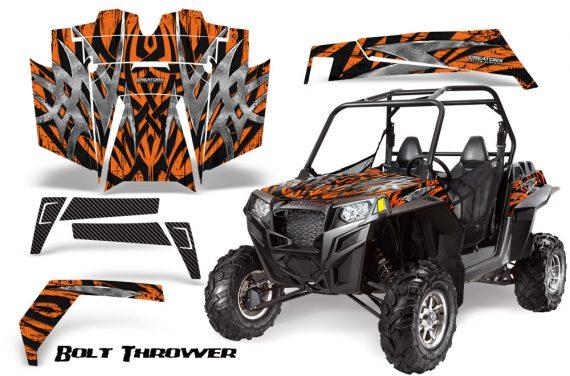 RZR 900 2011 CreatorX Graphics Kit Bolt Thrower Orange 570x376 - Polaris RZR 900 XP UTV 2011-2014 Graphics