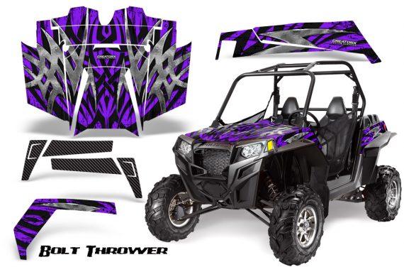 RZR 900 2011 CreatorX Graphics Kit Bolt Thrower Purple 570x376 - Polaris RZR 900 XP UTV 2011-2014 Graphics