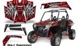 RZR 900 2011 CreatorX Graphics Kit Bolt Thrower Red RB 150x90 - Polaris RZR 900 XP UTV 2011-2014 Graphics