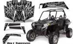 RZR 900 2011 CreatorX Graphics Kit Bolt Thrower Silver 150x90 - Polaris RZR 900 XP UTV 2011-2014 Graphics
