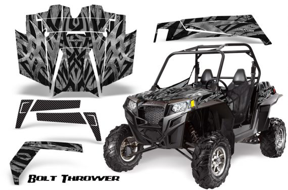 RZR 900 2011 CreatorX Graphics Kit Bolt Thrower Silver 570x376 - Polaris RZR 900 XP UTV 2011-2014 Graphics