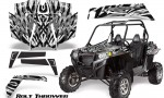 RZR 900 2011 CreatorX Graphics Kit Bolt Thrower White 150x90 - Polaris RZR 900 XP UTV 2011-2014 Graphics
