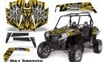 RZR 900 2011 CreatorX Graphics Kit Bolt Thrower Yellow 150x90 - Polaris RZR 900 XP UTV 2011-2014 Graphics