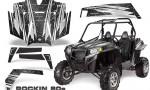 RZR 900 2011 CreatorX Graphics Kit Rockin 80s Black 150x90 - Polaris RZR 900 XP UTV 2011-2014 Graphics