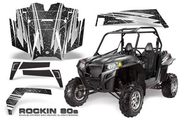 RZR 900 2011 CreatorX Graphics Kit Rockin 80s Black 570x376 - Polaris RZR 900 XP UTV 2011-2014 Graphics