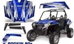 RZR 900 2011 CreatorX Graphics Kit Rockin 80s Blue 150x90 - Polaris RZR 900 XP UTV 2011-2014 Graphics