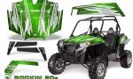 RZR 900 2011 CreatorX Graphics Kit Rockin 80s Green 150x90 - Polaris RZR 900 XP UTV 2011-2014 Graphics