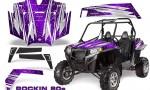 RZR 900 2011 CreatorX Graphics Kit Rockin 80s Purple 150x90 - Polaris RZR 900 XP UTV 2011-2014 Graphics
