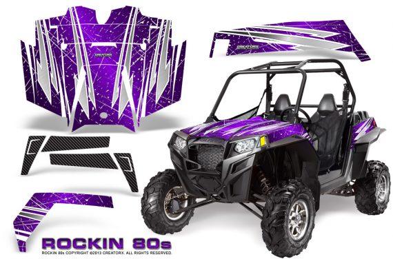 RZR 900 2011 CreatorX Graphics Kit Rockin 80s Purple 570x376 - Polaris RZR 900 XP UTV 2011-2014 Graphics