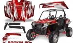 RZR 900 2011 CreatorX Graphics Kit Rockin 80s Red 150x90 - Polaris RZR 900 XP UTV 2011-2014 Graphics