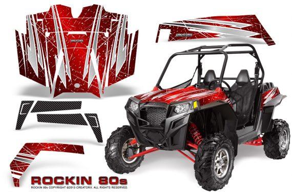 RZR 900 2011 CreatorX Graphics Kit Rockin 80s Red 570x376 - Polaris RZR 900 XP UTV 2011-2014 Graphics