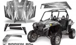 RZR 900 2011 CreatorX Graphics Kit Rockin 80s Silver 150x90 - Polaris RZR 900 XP UTV 2011-2014 Graphics