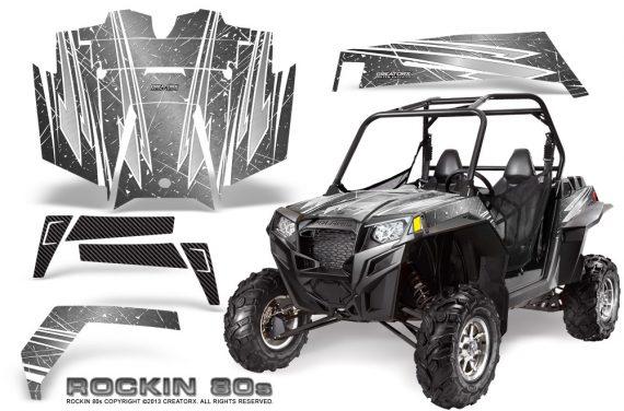 RZR 900 2011 CreatorX Graphics Kit Rockin 80s Silver 570x376 - Polaris RZR 900 XP UTV 2011-2014 Graphics