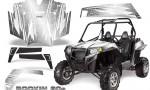 RZR 900 2011 CreatorX Graphics Kit Rockin 80s White 150x90 - Polaris RZR 900 XP UTV 2011-2014 Graphics